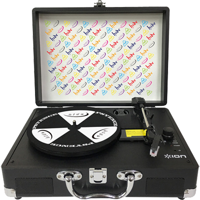 hide Vinyl Motion Portable Suitcase Turntable
